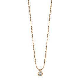 GINETTE NY 18K Rose Gold Lonely Diamond On Chain