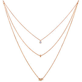 GINETTE NY 18K Rose Gold Multi Lonely Diamond Necklace