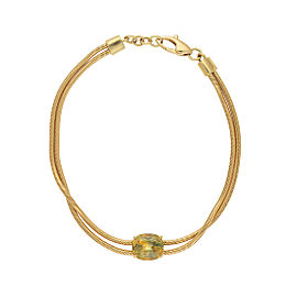Yellow gold bracelet with yellow sapphire