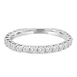 1.00ct Diamond 14k White Gold Almost Eternity Wedding Band