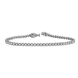 4.00ct Diamond 14k White Gold Tennis Bracelet