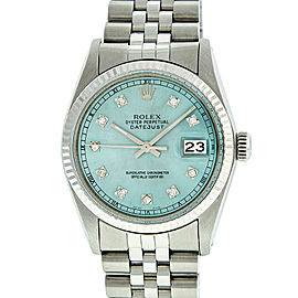 Rolex Datejust 16014 Stainless Steel and White Gold Diamond 36mm Watch