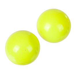 Alexis Bittar Neon Yellow Cabochon Earrings