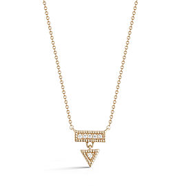 Yellow Gold Emily Sarah Triangle Dangle Necklace