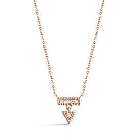 Rose Gold Emily Sarah Triangle Dangle Necklace
