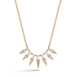 Yellow Gold Sadie Pearl Starburst Necklace