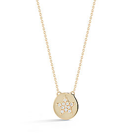 Yellow Gold Julianne Himiko Star Disc Necklace