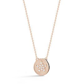 Rose Gold Julianne Himiko Star Disc Necklace
