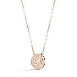 Rose Gold Julianne Himiko Star Disc Necklace
