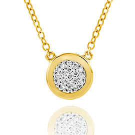 Yellow Gold Micro Infinity Plate Necklace