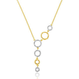 Yellow Gold Graduated Open Infinity Necklace