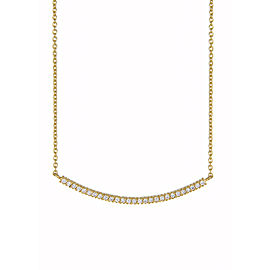 Yossi Harari Jewelry 18k Gold White Diamond Lilah Smile Necklace