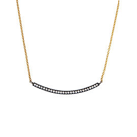 Yossi Harari Jewelry 18k Gold & Oxidized Gilver White Diamond Lilah Smile Necklace