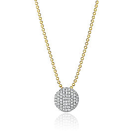 Yellow Gold & Diamond Mini Infinity Necklace