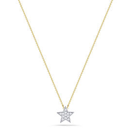 Julianne Himiko Yellow and White Gold Diamond Star Necklace