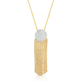 Yellow Gold Diamond Large Infinity Tassel Necklace