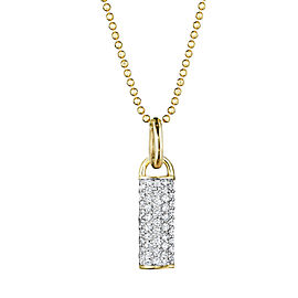 Yellow Gold and Diamond Bar Drop Necklace