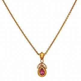 DeMerini Pink Tourmaline and Diamond Pendant Necklace
