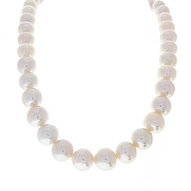 Neck PEARLS W/ Silver Clasp white pearls 45pcs