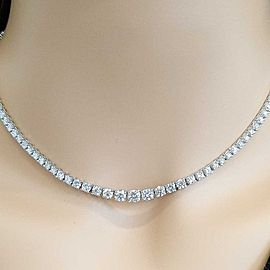 3.27 carat diamond riviera necklace