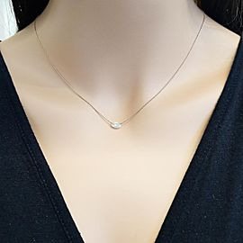 0.50 Carat Marquise Diamond Necklace in 14 Karat Rose Gold