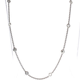 2.81 Carat Total Diamonds by the Yard Necklace in 14 Karat White Gold