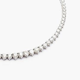 11.55 Carat Total Diamond 3 Prong Tennis Necklace in 18 Karat White Gold