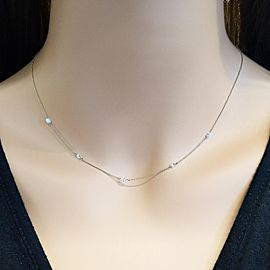 0.62 Carat Total Marquise Shape Diamond Necklace in 14 Karat Yellow Gold