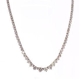 7.02 Carat Total Diamond Riviera Necklace in 18 Karat White Gold