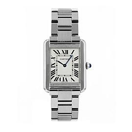 Cartier Tank Solo Watch Small Model W5200013 31mm/23.5mm Womens Watch