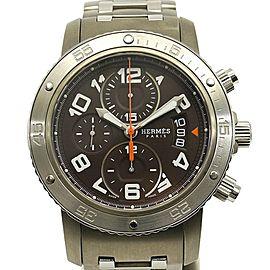 Hermes Clipper Chrono CP2.941 44mm Mens Watch