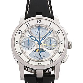 Citizen Campanula Eco Drive Moon Phase Chronograph CTY57-1071 43mm Mens Watch