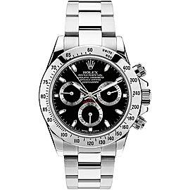 Rolex Pre Owned Steel Daytona 116520 Black 40mm Men's Watch