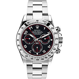Rolex Daytona 116520 Red Accent Racing Dial 40mm Mens Watch