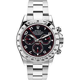 Rolex Pre Owned Steel Daytona 116520 Custom Arabic Racing 40mm Men's Watch