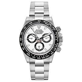 Rolex Pre Owned Custom Ceramic Daytona 116520 White 40mm Men's Watch