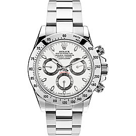 Rolex Pre Owned Steel Daytona 116520 White 40mm Men's Watch