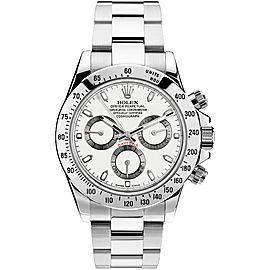 Rolex Pre Owned Steel Daytona 116520 White 40mm Men's Watch