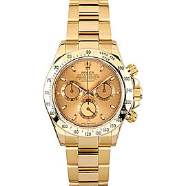 Rolex Pre-Owned Yellow Gold Daytona 116528 Champagne