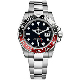 Rolex GMT-Master II Custom Ceramic Black/Red 116710 40mm Men's Watch