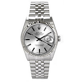 Rolex Men's Datejust Stainless Steel Silver Index Dial 36 mm Men's Watch