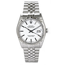Rolex Men's Datejust Stainless Steel White Index Dial 36 mm Men's Watch