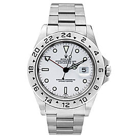 Rolex Explorer II 16570 White Dial 40mm Mens Watch
