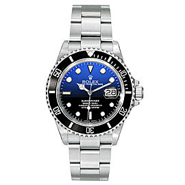 Rolex Submariner Steel Pre-Owned 16610 Custom DeepBlue 40mm Men's Watch