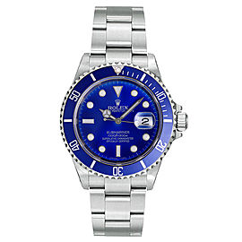 Rolex Submariner 16610 Deep-Blue Dial 40mm Mens Watch