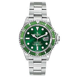 Rolex Submariner 16610 Green Dial 40mm Mens Watch