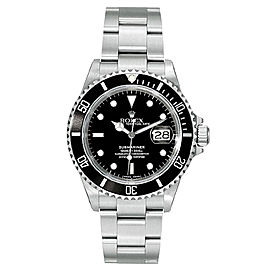 Rolex Submariner 16610 Black Dial 40mm Mens Watch
