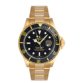Rolex Submariner 16618 Black Dial 40mm Mens Watch