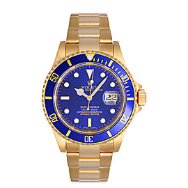 Rolex Submariner 16618 Blue Dial 40mm Mens Watch