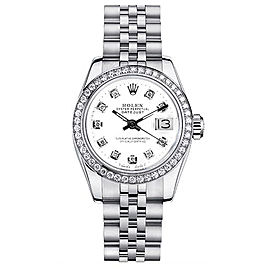 Rolex Datejust 179174 White Diamond Dial 26mm Women's Watch